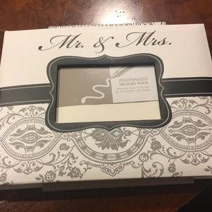 Mr. and Mrs. personalized memory book